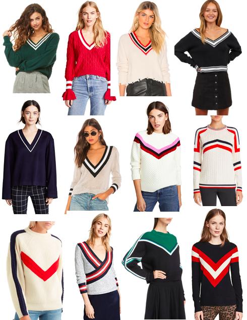 trend varsity sweaters